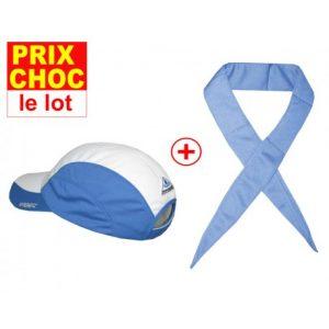 lot promo casquette + foulard Hyperkewl bleus