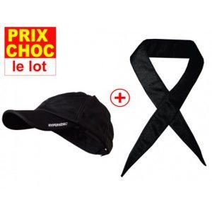 lot promo casquette et foulard hyperkewl noir